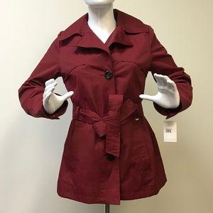 NWT Ellen Tracy Trench Coat w/Detachable Hood